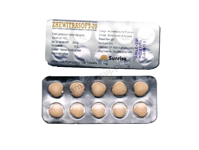 Zhewitra Soft 20mg Tablets